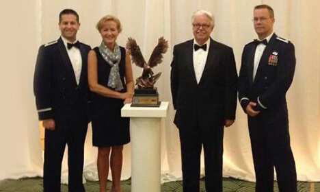 Dr. Hans Otto, CEO Kay, Dr. James Sublett, and Dr. Joseph Turbyville receives Freedom award
