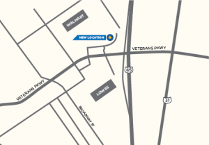 Clarksville, Indiana office map