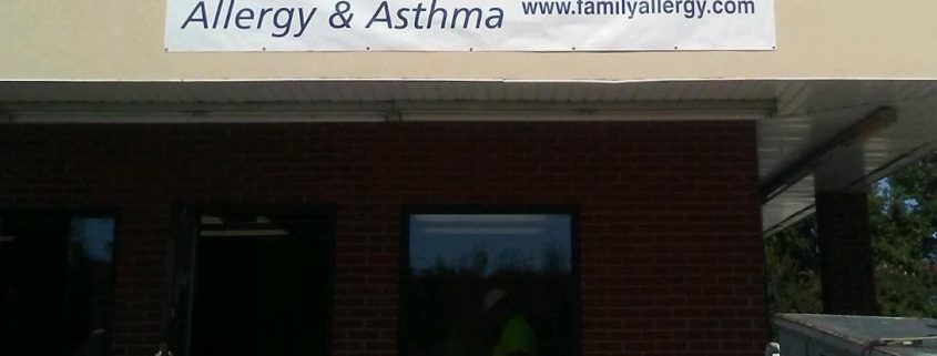 Coming soon allergy office Bardstown Kentucky banner