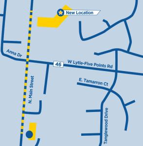 New Location Map, 768 North Main Street